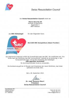 SRC Bestätigung 2015 Die Starco Security GmbH ist SRC zertifziert.